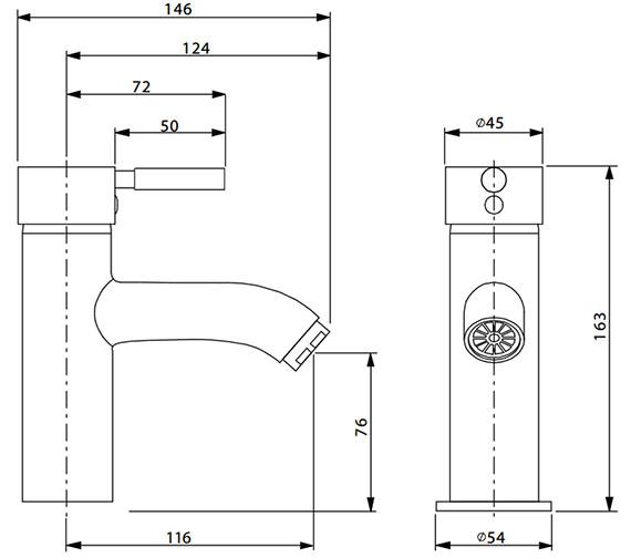 Technical drawing QS-V38136 / DE110DNC