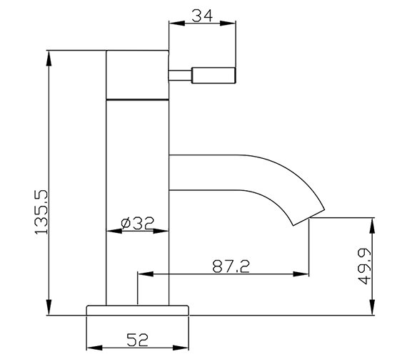 Technical drawing QS-V38137 / DE114DNC
