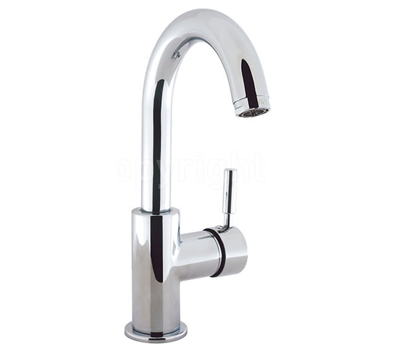 Crosswater Design Side Lever Monobloc Basin Mixer Tap With Waste