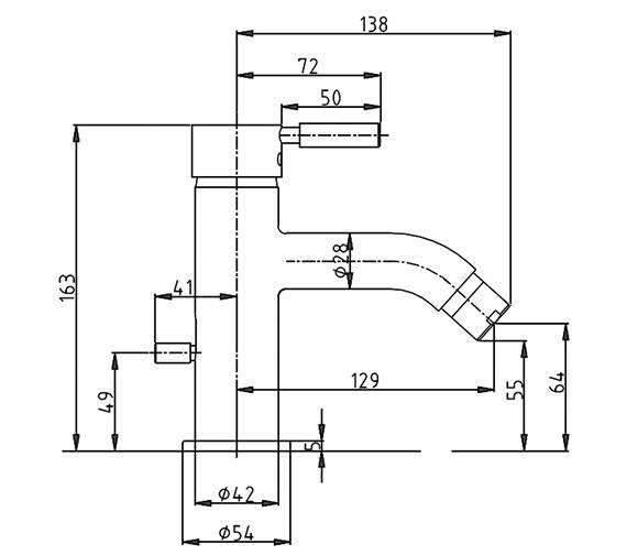 Technical drawing QS-V38141 / DE210DPC