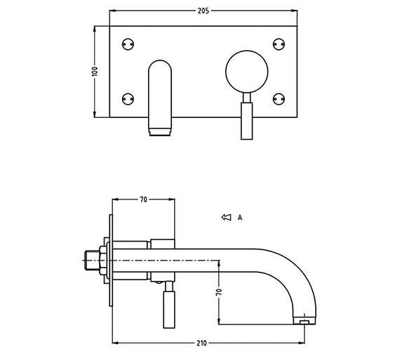 Technical drawing QS-V38142 / DE121WNC