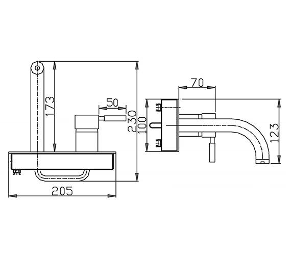 Technical drawing QS-V38155 / DE321WC