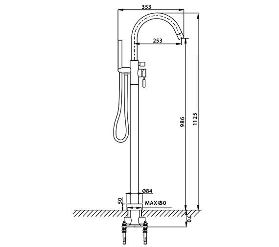 Technical drawing QS-V38162 / DE416FC