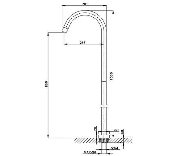Technical drawing QS-V38163 / DE0370FC