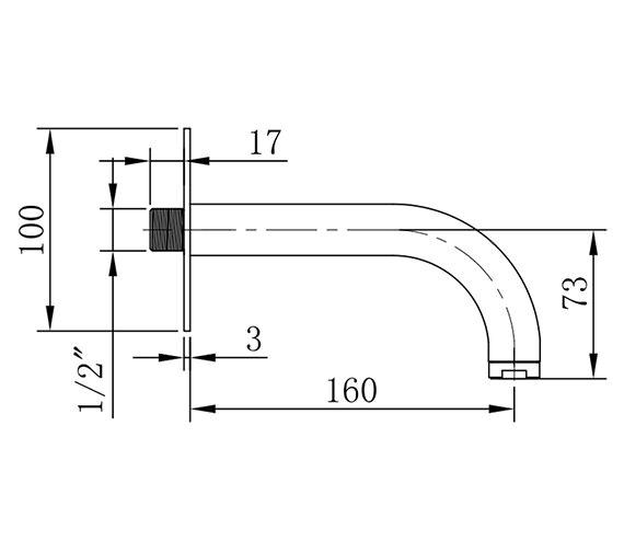 Technical drawing QS-V38164 / DE0370WC