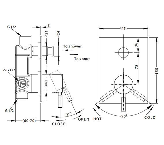 Technical drawing QS-V38170 / DE0005RC