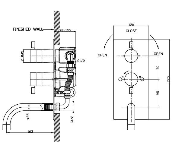 Technical drawing QS-V38171 / DE1600RC