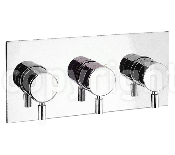 Crosswater Design Landscape Thermostatic 3 Way Control Shower Valve