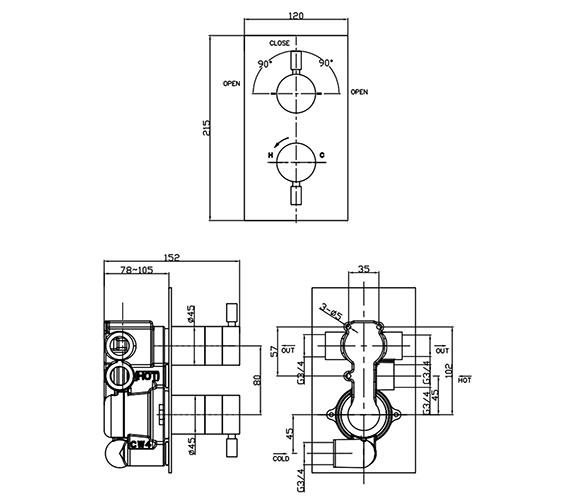 Technical drawing QS-V38179 / DE1500RC