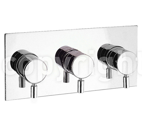 Crosswater Design Landscape Thermostatic 3 Way Diverter Shower Valve