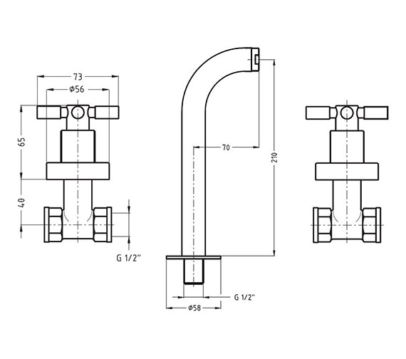 Technical drawing QS-V38226 / TO130WNC