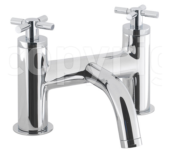Crosswater Totti Deck Mounted Bath Filler Tap Chrome - TO322DC