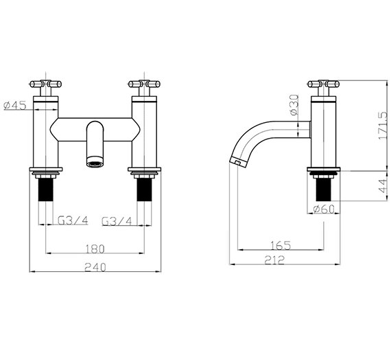 Technical drawing QS-V38231 / TO322DC
