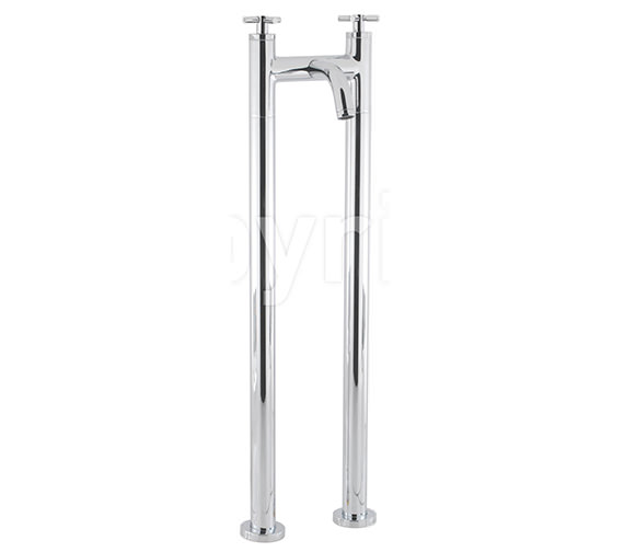 Crosswater Totti Floor Standing Bath Filler Tap - TO322DC-AA002FC