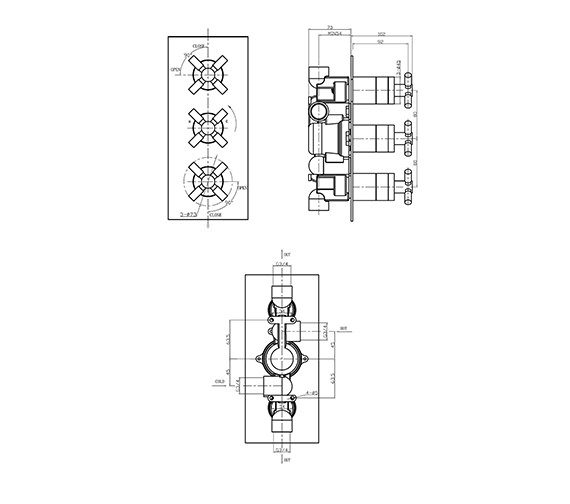 Technical drawing QS-V38237 / TO2000RC