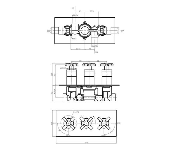 Technical drawing QS-V38241 / TO3001RC