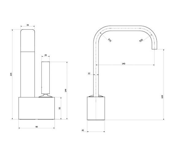 Technical drawing QS-V38275 / EE110DNC
