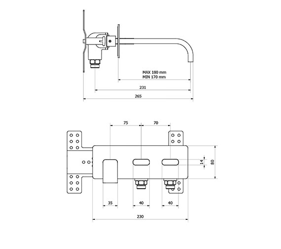 Technical drawing QS-V38277 / EE121WC