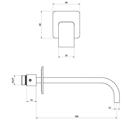 Technical drawing QS-V38280 / EE0370WC