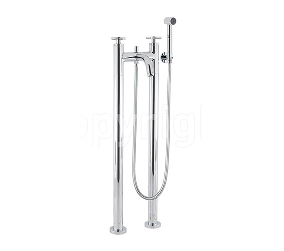 Crosswater Totti Floor Standing Bath Shower Mixer Tap with Kit