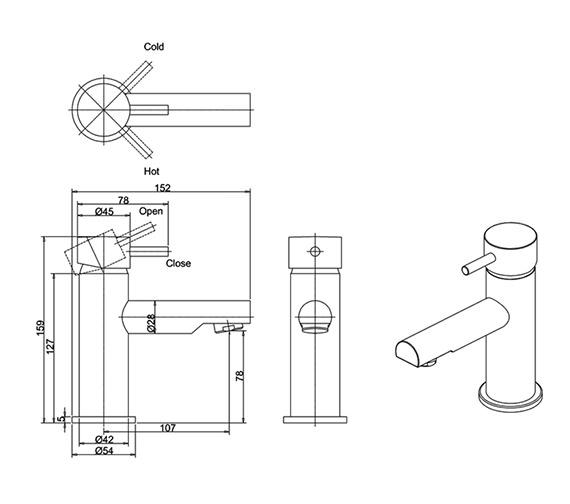 Technical drawing QS-V38320 / KL110DNC