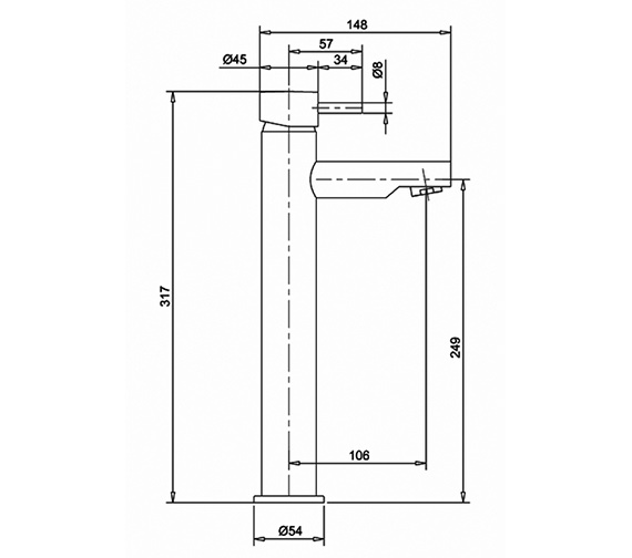 Technical drawing QS-V38322 / KL112DNC