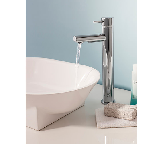 Additional image of Crosswater Kai Lever Monobloc Fixed Spout Tall Basin Mixer Tap