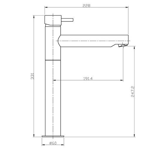 Technical drawing QS-V38323 / KL116DNC