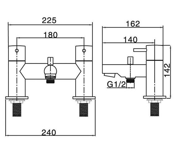 Technical drawing QS-V38335 / KL422DC