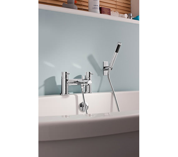 Crosswater Kai Deck Mounted Lever Bath Shower Mixer Tap With Shower Kit