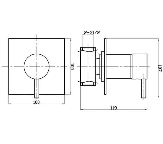 Technical drawing QS-V38341 / KL0004RC