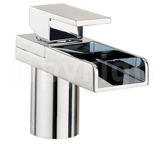 Crosswater Water Square Monobloc Basin Mixer Tap With Light