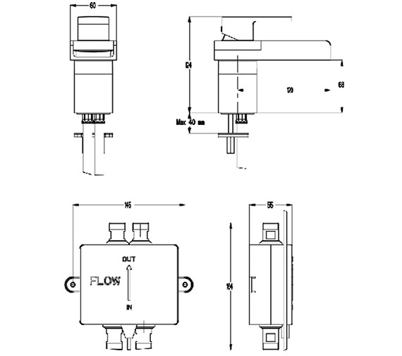 Technical drawing QS-V38406 / WSX110DNC