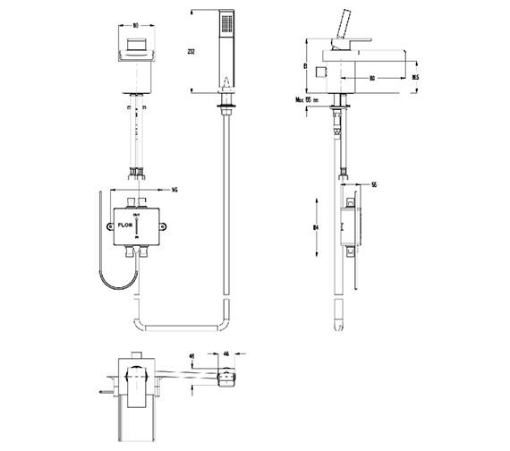 Technical drawing QS-V38407 / WSX410DC