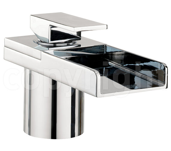 Crosswater Water Square Deck Mounted Monobloc Bath Filler Tap With Light