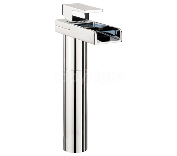 Crosswater Water Square Tall Monobloc Basin Mixer Tap With Light