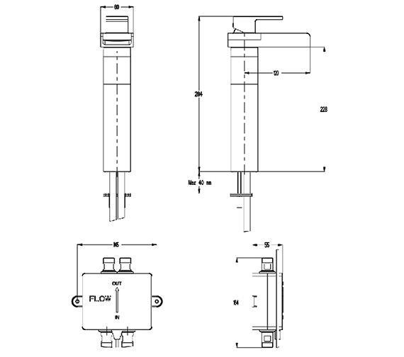 Technical drawing QS-V38409 / WSX112DNC