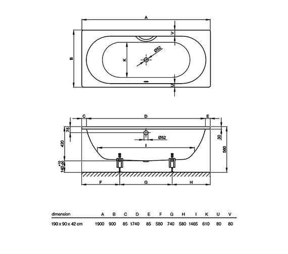 Technical drawing QS-V38416 / 1830 000
