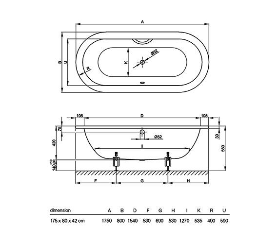 Technical drawing QS-V38419 / 2680 000