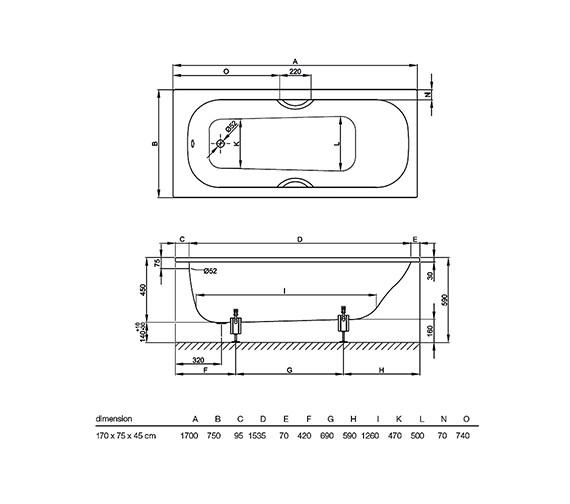 Technical drawing QS-V38422 / 3110 000