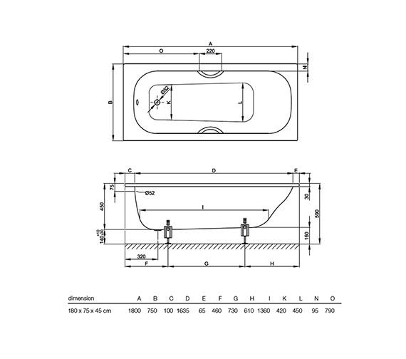 Technical drawing QS-V38424 / 1272 000