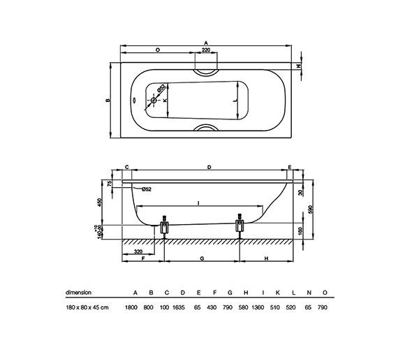Technical drawing QS-V38425 / 1270 000