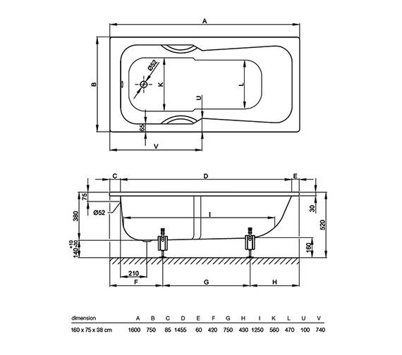 Technical drawing QS-V38427 / 3660 000