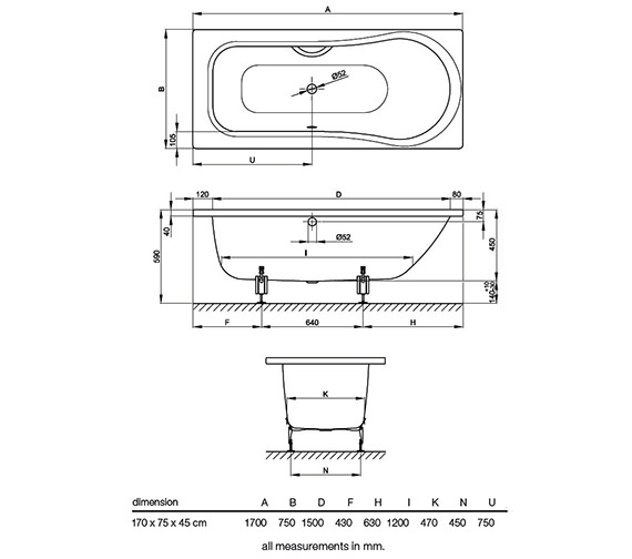 Technical drawing QS-V38429 / BETTE6531