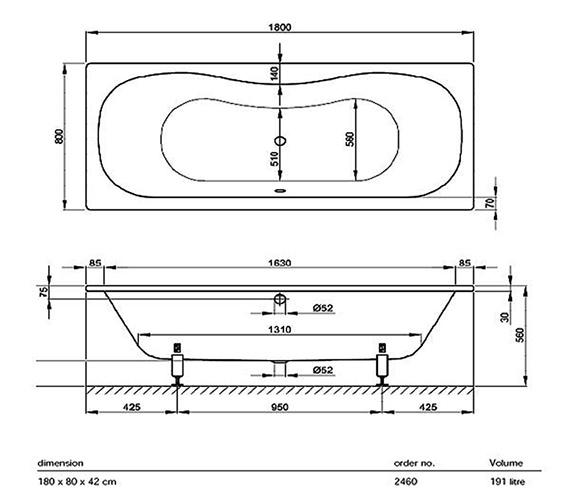 Technical drawing QS-V38432 / BETTE2460