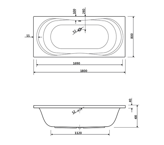 Technical drawing QS-V38456 / 200APOLLO1880CWS14
