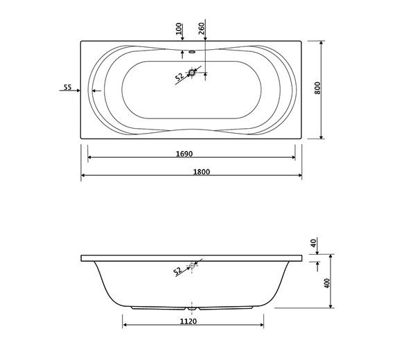 Technical drawing QS-V38457 / 200APOLLO1880CWS16