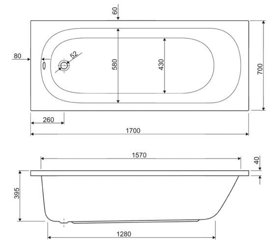 Technical drawing QS-V38463 / 154HUD1770AQMAX