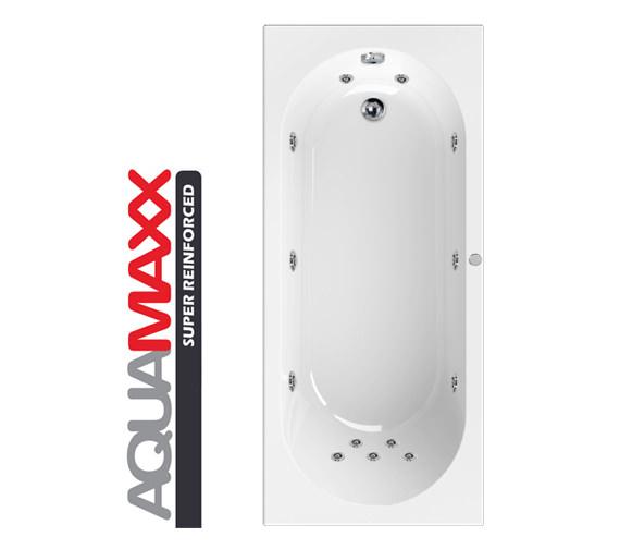 Aquaestil Hudson Aquamaxx 1700 x 700mm 11 Jets Whirlpool Bath