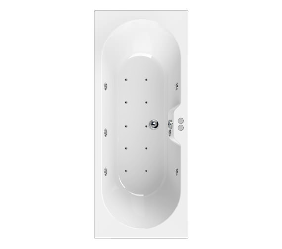 Aquaestil Calisto 1700 x 750mm 16 Jets Whirlpool Bath